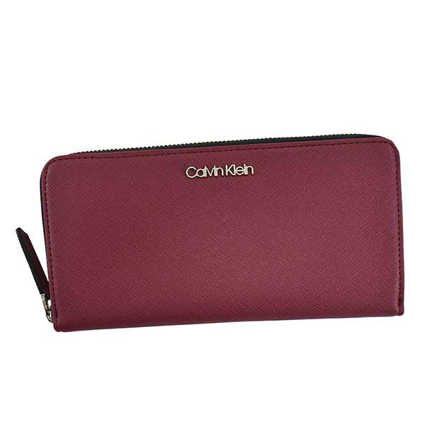 カルバンクライン Calvin Klein ラウンドファスナー長財布 ワインレッド(XCP) K60K606063【Luxury Brand Selection】