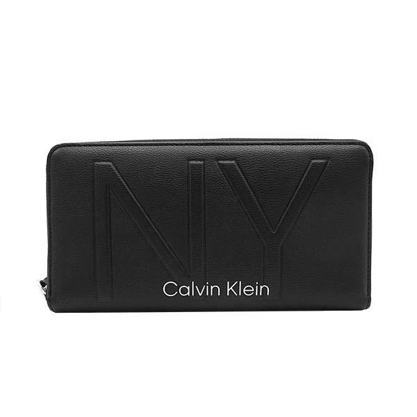 カルバンクライン Calvin Klein ラウンドファスナー長財布 ブラック SHAPED LRG ZIPAROUND K60K606066 BDS【Luxury Brand Selection】
