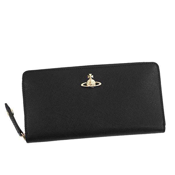 ヴィヴィアン ウエストウッド Vivienne Westwood ラウンドファスナー長財布 ブラック PIMLICO ZIP ROUND WALLET 51050022 40187 N401【ヴィヴィアン財布】【Luxury Brand Selection】
