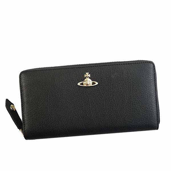ヴィヴィアン ウエストウッド Vivienne Westwood ラウンドファスナー長財布 ブラック BALMORAL ZIP ROUND WALLET 51050022 N401【ヴィヴィアン財布】【Luxury Brand Selection】