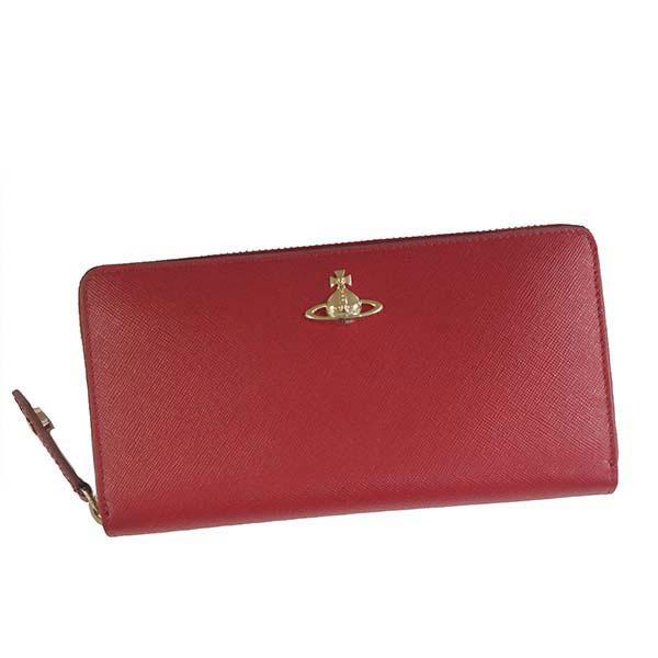 ヴィヴィアン ウエストウッド Vivienne Westwood ラウンドファスナー長財布 レッド PIMLICO ZIP ROUND WALLET 51050022 40187 H401【ヴィヴィアン財布】【Luxury Brand Selection】