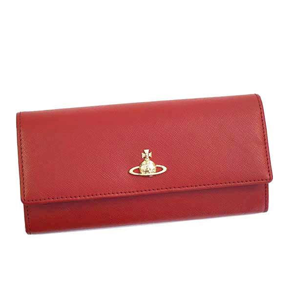 ヴィヴィアン ウエストウッド Vivienne Westwood 二つ折り長財布 レッド PIMLICO 51060022-40187-H401【ウォレット 牛革 本革 レザー】【Luxury Brand Selection】