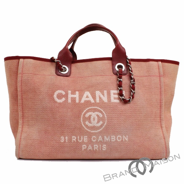 a0b346a80473 B rank Chanel Deauville A66941 red CHANEL Chanel tote bag shoulder bag  chain bag 2way bag ...