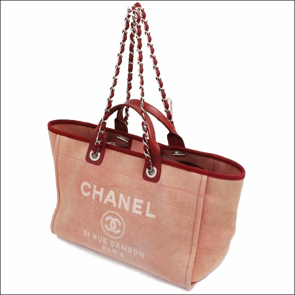 0f29fb21c341 ... B rank Chanel Deauville A66941 red CHANEL Chanel tote bag shoulder bag  chain bag 2way bag ...
