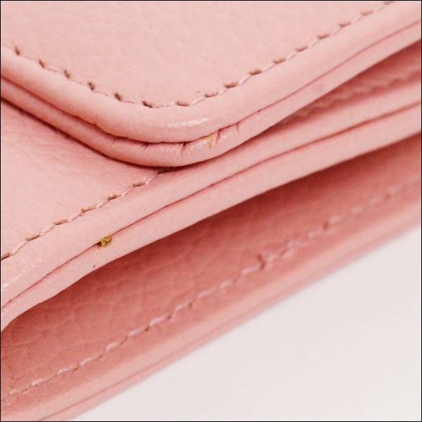 b78af663d511 A rank Chanel long tri-fold wallet A29288 2.55 Pink ladies CHANEL Chanel  purse wallet leather wallet pink