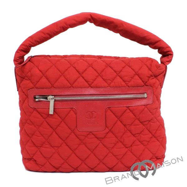 bd7035798ec7 brandmaison: AB rank Chanel Coco cocoon bag A48617 red CHANEL tote bag  nylon red | Rakuten Global Market