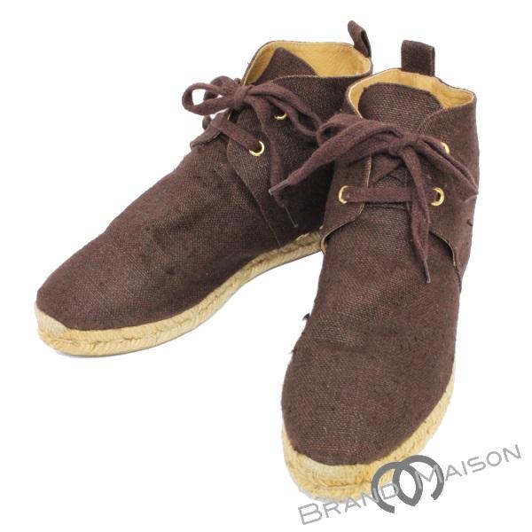 ABランク エルメス シューズ エスパドリーユ 麻 ブラウン 靴 HERMES ファッション 【中古】