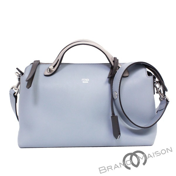 6715e44e8eb9 A rank Fendi 2WAY handbag visor way 8BL124 light blue beige Lady s FENDI BY  THE WAY blue