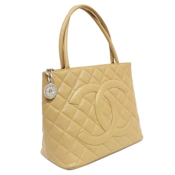 1388532b386f B rank Chanel reproduction Thoth A01804 caviar skin beige CHANEL Lady's  Chanel tote bag handbag beige