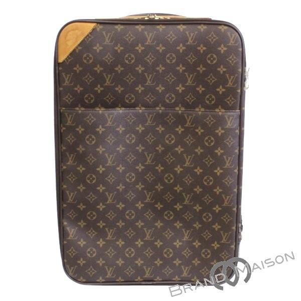 Cランク ルイ・ヴィトン ペガス45 M23293 モノグラム スーツケース キャリーケース 旅行バッグ ユニセックス ブラウン LOUIS VUITTON brown 【中古】