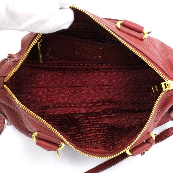 f8fe43c7f473 ... B rank Prada tote bag shoulder bag 2WAY BL0805 Bordeaux PRADA Lady's  Bordeaux ...