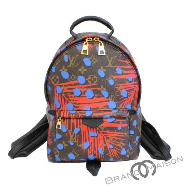 835271ec820 Like-new Louis Vuitton Palm Springs backpack PM M41980 monogram summer  jungle dot poppy denim rucksack Lady's LOUIS VUITTON brown black black brown
