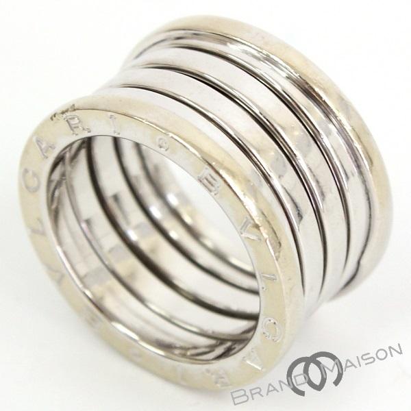 Aランク ブルガリ ビーゼロワンリング B-zero1 5バンド 750WG 指輪 アクセサリー ホワイトゴールド BVLGARI 【中古】