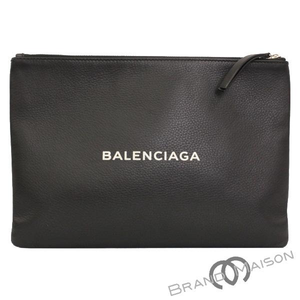 ABランク バレンシアガ ショッピングクリップM 485110 クラッチバッグ メンズ ブラック BALENCIAGA black 【中古】