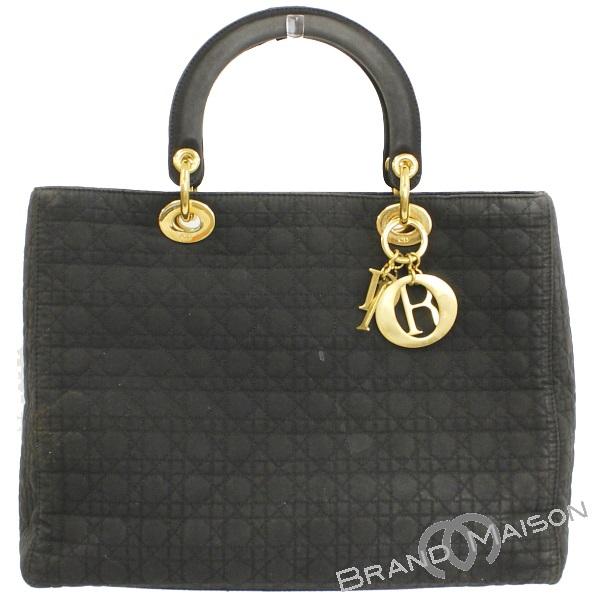 Cランク ディオール ハンドバッグ レディディオール ブラック Christian Dior C.Dior レディース black 【中古】