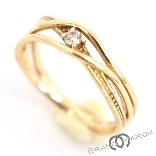 Aランク エー・ディー・エー ピンキーリング ダイヤモンド K10PG 3号 A・D・A 指輪 ピンクゴールド レディース 【中古】