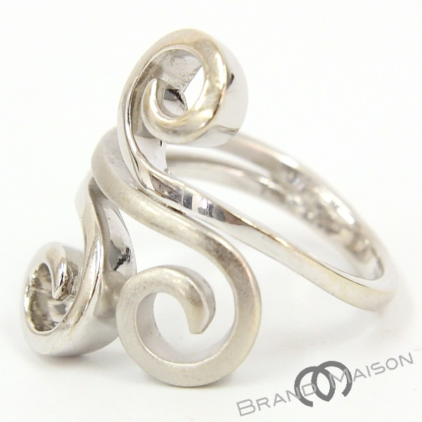 Aランク ライマ デザインリング 750WG 16号 RAIMA 指輪 レディース アクセサリー ホワイトゴールド 【中古】