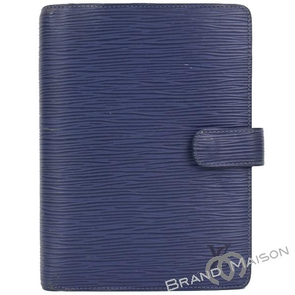 送料無料 再再販 当店管理番号:0830003260640 Bランク ルイ ヴィトン アジェンダMM R2004G ブルー ミルティーユ 手帳カバー 人気の製品 中古 LOUIS VUITTON blue ノートカバー エピ レディース 手帳