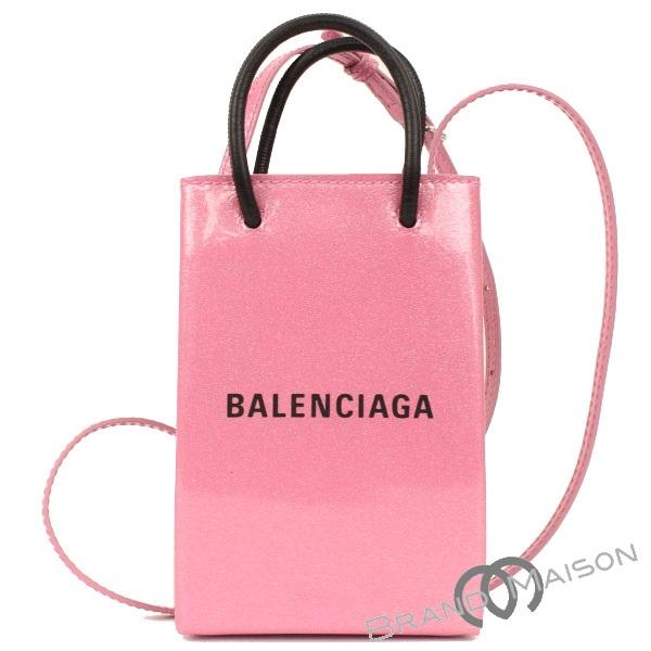送料無料 当店管理番号:0832504180700 新品同様 バレンシアガ 人気 35%OFF ショッピングフォンホルダーショルダー 593826 pink レディース 中古 BALENCIAGA トートバッグ ピンク