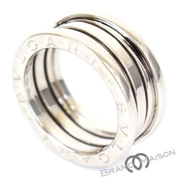 送料無料 当店管理番号:0432501161063 新品同様 ブルガリ ビーゼロワン 上等 使い勝手の良い 3バンドリング 750WG 15号 アクセサリー レディース ホワイトゴールド 中古 BVLGARI 55 指輪