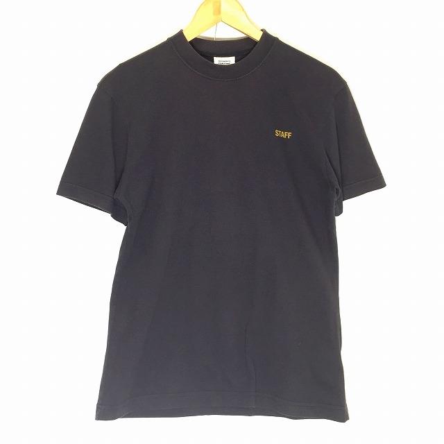 VETEMENTS ヴェトモン 17-18 HIVER STAFF T サイズ XS ブラック Tシャツ メンズ レディース 中古 消費税込み 送料無料【Y】