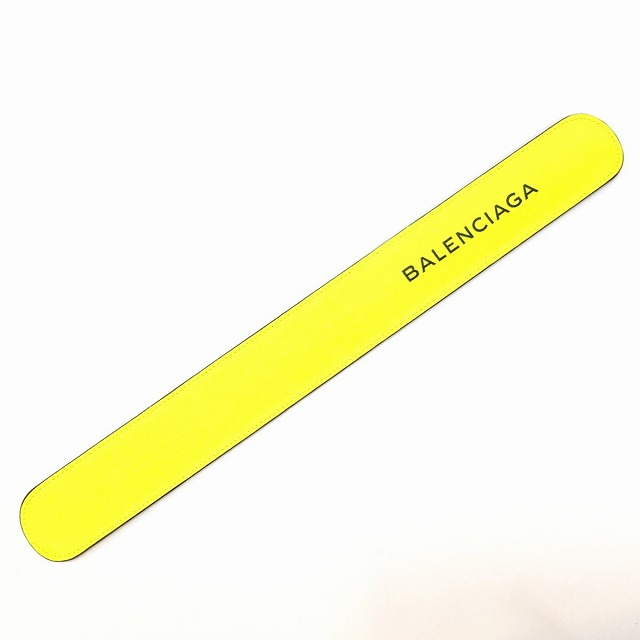BALENCIAGA バレンシアガ Cycle Bracelet サイクルブレス アクセサリー ブレスレッド ワンタッチブレス パッチンブレス メンズ レディース ユニセックス 男女兼用 イエロー 469170 7260 B 568024 U 消費税込 中古 送料無料【Y】