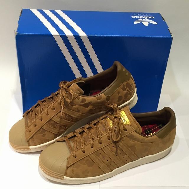 adidas Originals SUPERSTAR 80s CAMO 15  D65513  Adidas originals superstar  80s duck 15  brown   ウィート  BROWN WHEAT  type push   leather  TIMBE  size ... 964822221