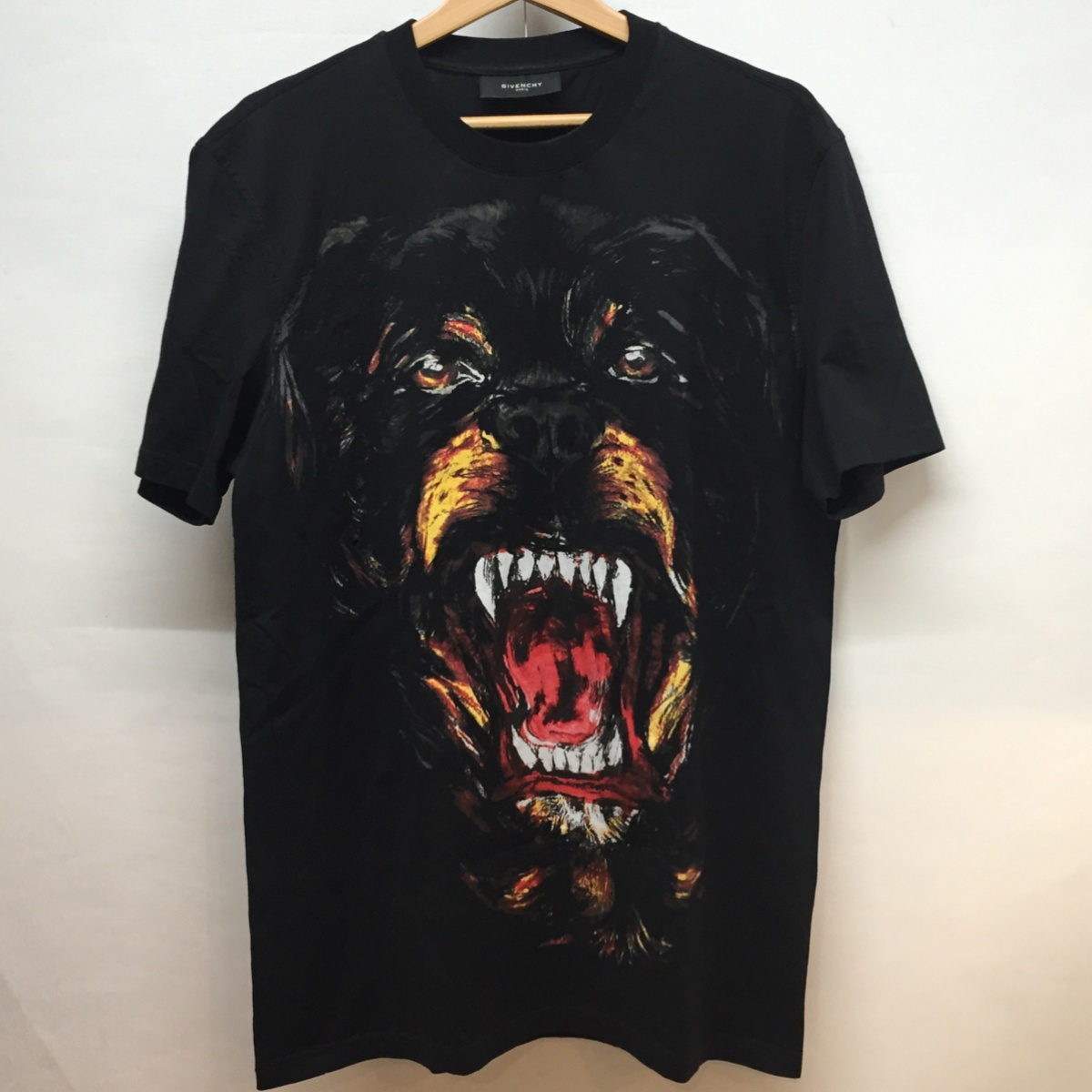 2011 Rottweiler print T-shirt /L size / black /11F 7073 651/ カルド ティッシ / collection / dog / dogs in the fall and winter