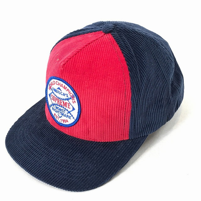 d337f9881d4 It includes a 08AW Worst nightmare 5 Panel cap コーデユロイワッペンキャップネイビーメンズレディース  hat baseball cap used consumption tax in winter in the ...