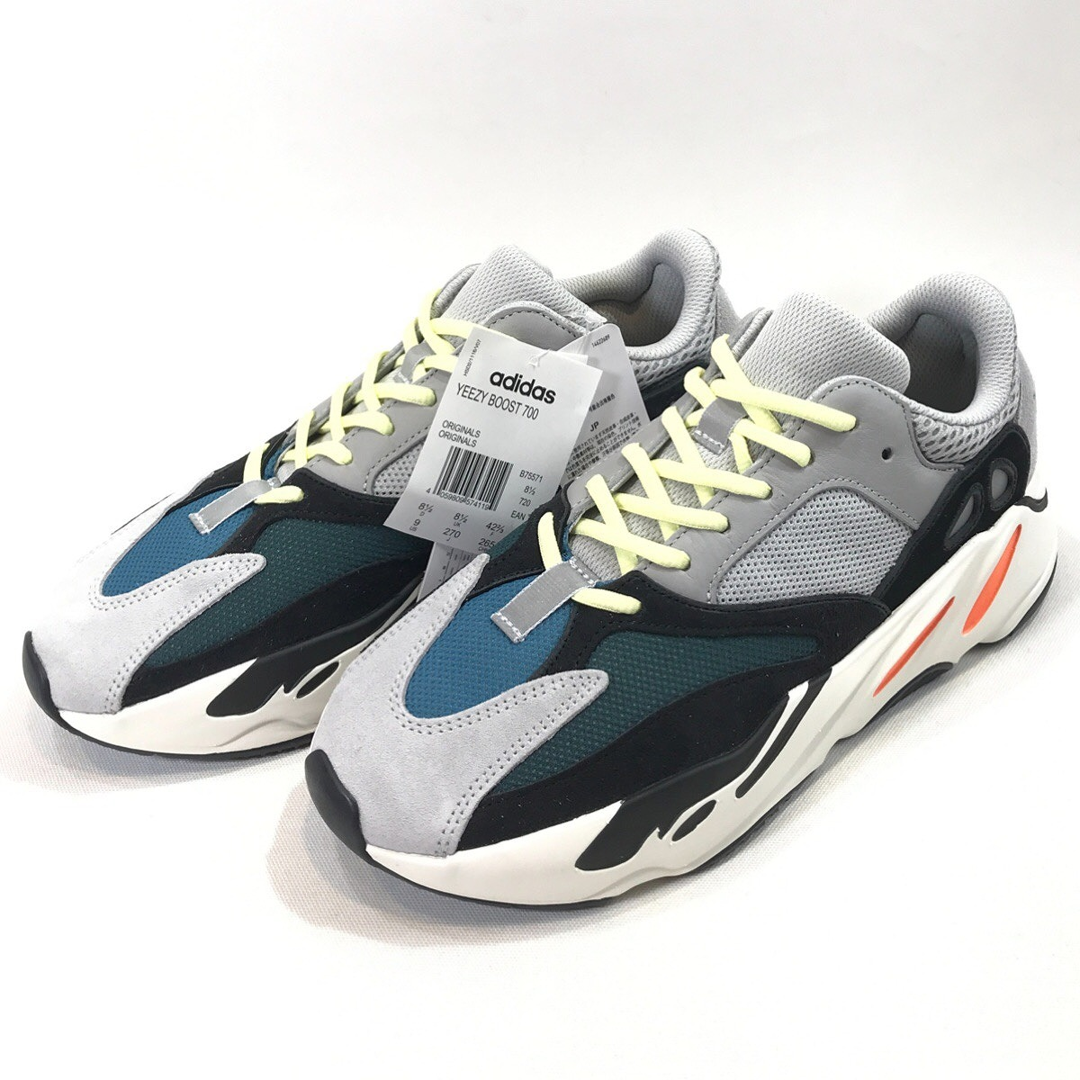 sports shoes 64d82 b4e58 It includes collect on delivery charges including an adidas YEEZY BOOST 700  WAVE RUNNER 27.0cm B75571 Adidas sneakers shoes gray black easy boost 700  ...