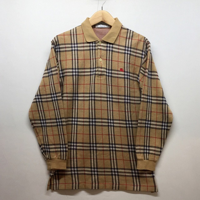93cbd4d5 It is recommended for Burberrys Burberrys Burberry Burberry polo shirt  rugby shirt beige vintage VINTAGE check ...