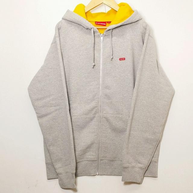 Supreme シュプリーム Contrast Small Box logo Zip Up Sweat shirt コントラスト スモール ボックスロゴ ジップ アップ スウェット パーカー グリーン 18SS WEEK13 Lサイズ メンズ 中古 送料無料 消費税込み 【Y】