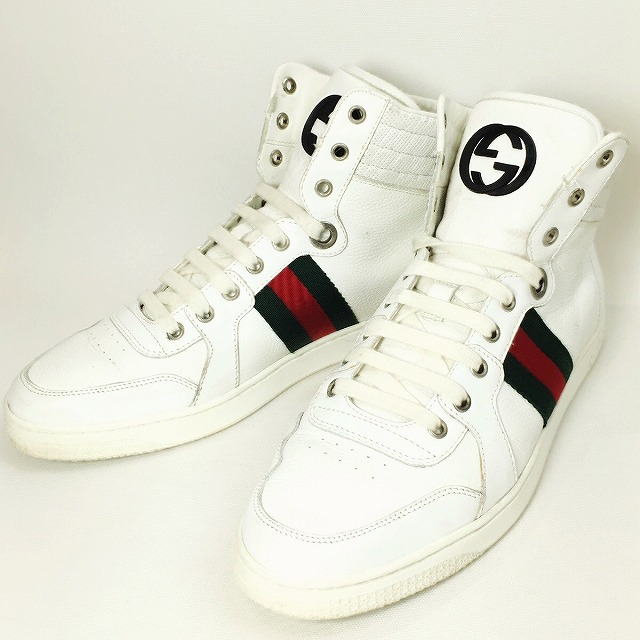 4852bbc28fb It includes a 16SS 221825 size 7 white red green white red green shoes  double G GG logo sherry line men used consumption tax in the summer in the  GUCCI ...