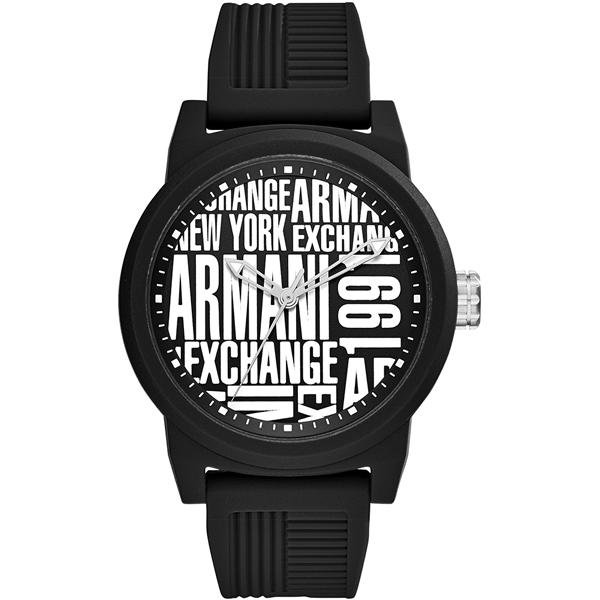 ワクワク 楽しく選ぶ 1年保証 ラッピング可 お気に入り あす楽 記念日 思い出 大切な人へ 形に残る 贈り物 ご褒美 父 母 家族 友達 サプライズ エクスチェンジ 30代 40代 誕生日プレゼント 時計 激安通販販売 メンズ 腕時計 AX1443 ATLC アルマーニ シリコンラバー ブラック 60代 20代 50代 10代