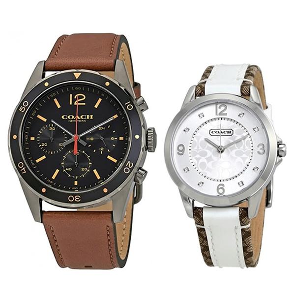 【ペアBOXつき】プレゼントにおすすめ!COACH コーチ 腕時計 ペアウォッチ メンズ クロノグラフ レディース こーち 1460207014501619 誕生日 お祝い ギフト