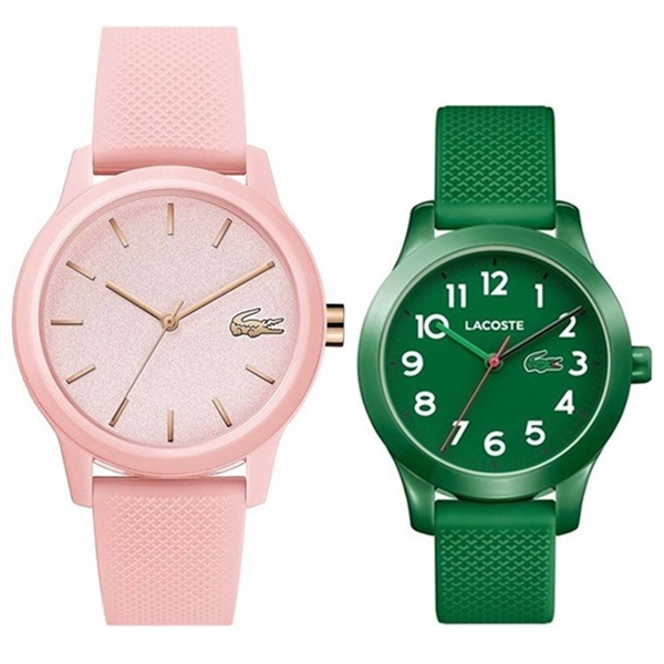 【 BLACK FRIDAY 】LACOSTE ラコステ 腕時計 お揃い 親子ペア ペアウォッチ ママ お母さん 娘 息子 子供 男の子 女の子 時計 キッズウォッチ ラバー ピンク 緑 20010652030001