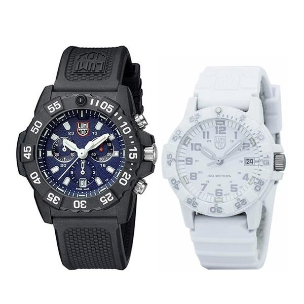 【ペアBOX付き】ルミノックス 腕時計 ペアウォッチ ネイビーシールズ クロノグラフ ブラック ホワイト 防水 ミリタリーウォッチ 35830307.WO ペアセット 誕生日 お祝い ギフト
