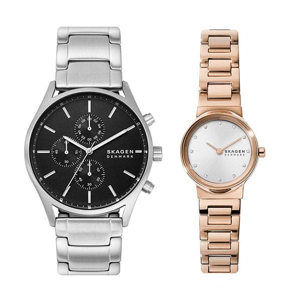 【オープニング 大放出セール】 【スーパーSALE】スカーゲン ペア ウォッチ 夫婦 腕時計 メンズ レディース メンズ 腕時計 プレゼント 夫婦 カップル シルバー ピンクゴールド ステンレス, 驚きの安さ:226877aa --- coursedive.com