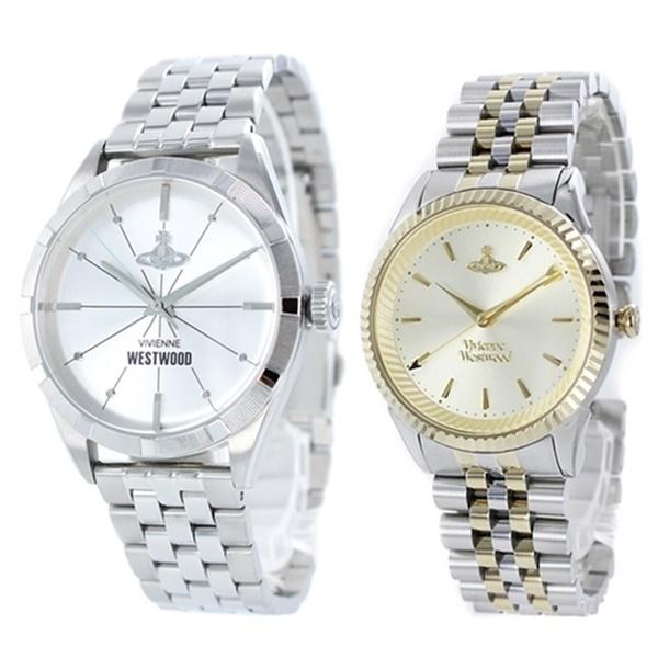 ヴィヴィアン ウエストウッド メンズ レディース ペアウォッチ 腕時計 誕生日 内祝い 結婚祝い 記念日 ギフトセット プレゼント シルバー ツートーン アクセサリー 時計