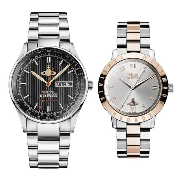 【全品対象クーポン配布中 】ヴィヴィアン ウエストウッド 時計 メンズ レディース ペアウォッチ 腕時計 クランボーン/ブルームスベリー シルバー ローズゴールド ステンレス VV207BKSLVV152RSSL ペアセット カップル