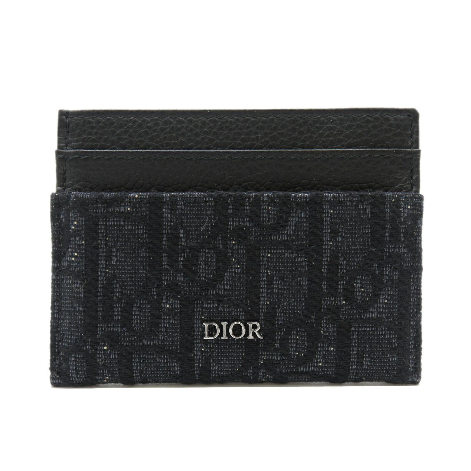 ディオール カードケース ランクS ブランドオフ 8 9より 最大2万円OFFクーポン ポイント2倍 レディース ブラック系 アクセサリー 中古 中古 チープ キャンバスレザーメンズ ブラック Dior オブリーク
