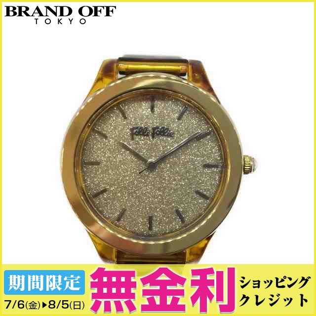 【最大24回まで無金利】【セール】 【中古】 フォリフォリ 時計 時計 レディース ビニール レオパード柄 (WF17P019ZP) | 送料無料 レディース腕時計 ブランド腕時計 防水 ブランド おしゃれ