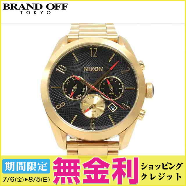 【最大24回まで無金利】【セール】 【中古】ニクソン バレット クロノ 腕時計 ウォッチ 時計 メンズ (A366510) (201806) | 送料無料 メンズ腕時計 ブランド腕時計 防水 ブランド おしゃれ ビジネス カジュアル 男性