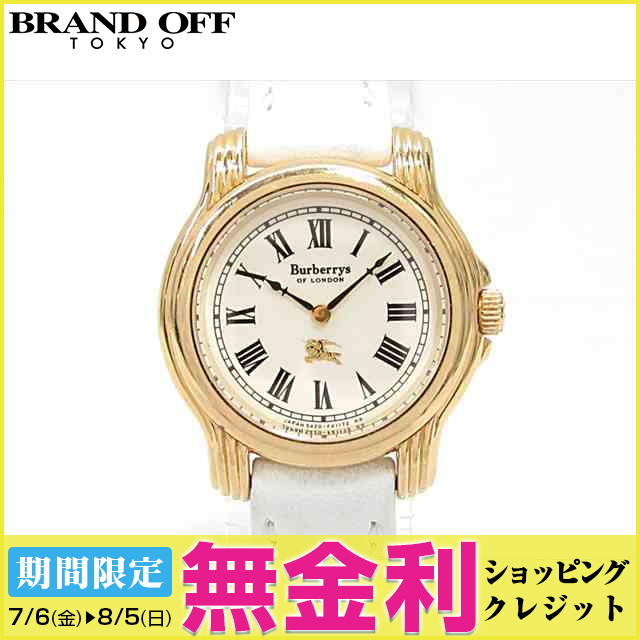 【最大24回まで無金利】 【中古】バーバリー 腕時計 ウォッチ 時計 レディース xレザーベルト (5420-F40772) (201807) | 送料無料 レディース腕時計 ブランド腕時計 防水 ブランド おしゃれ (201807)