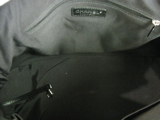 CHANEL(香奈尔)/宽底旅行皮包/宽底旅行皮包/黑色/专利皮革/名牌断开