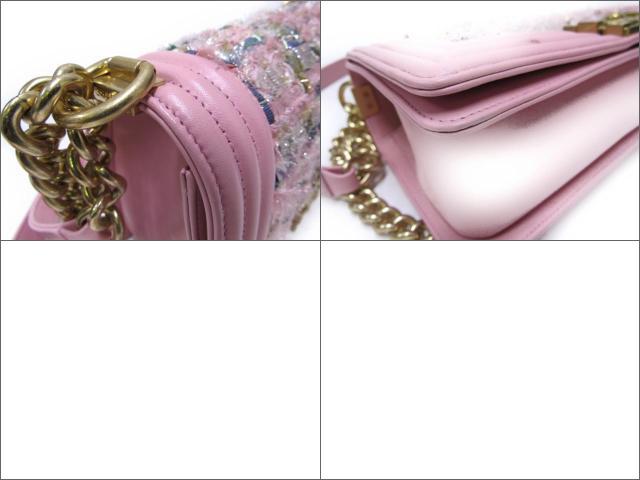 샤네르보이샤네르쇼르다밧그밧그레디스 소가죽(송아지 가죽) x라메들이 리본 핑크