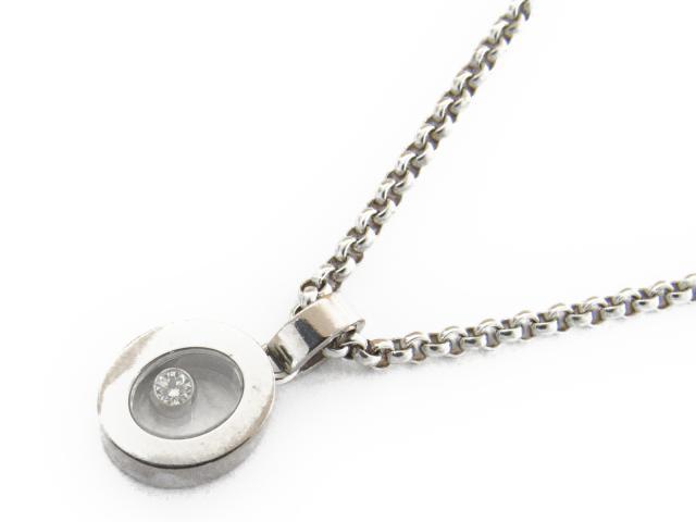 アイコン K18 【中古】 ペンダント 【ネックレス】 ショパール ハッピーダイヤモンド