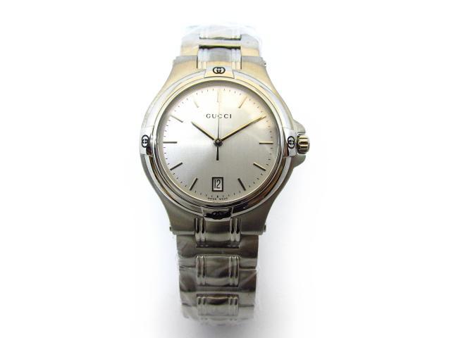 b98409eea086 【中古】グッチ (YA090318) ステンレススチール(SS) メンズ ウォッチ メンズ腕時計-メンズ腕時計 - embroitique.com