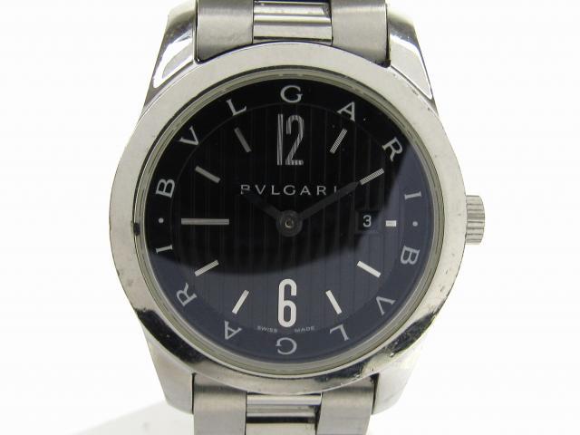 【中古】ブルガリ ソロテンポ ウォッチ 腕時計 メンズ ステンレススチール(SS) (ST30S)