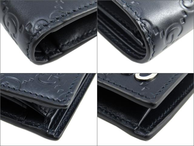 5e77b80f479b ... グッチ二つ折財布グッチシマ二つ折財布財布メンズグッチシマネイビー(473922 ...